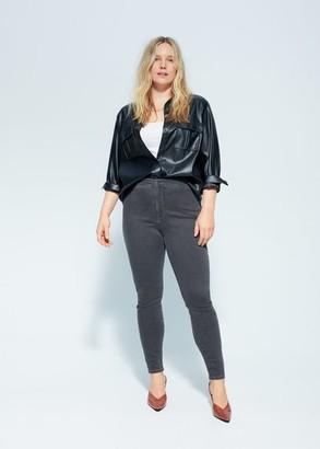 MANGO Violeta BY High waist Tania jeggings denim grey - 10 - Plus sizes