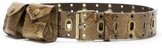 Nk Leather Pockets Belt