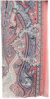 Etro Printed Paisley Silk Cashmere Scarf