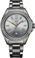 JBW Women's Capri 0.12 ctw Diamond Gun Metal-Plated Stainless Steel Watch J6340E