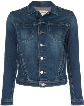 L'Agence Janelle slim denim jacket