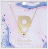 Accessorize Initial P Pendant Necklace