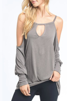 Mono B Cold Shoulder Top