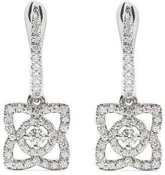 De Beers 18kt white gold Enchanted Lotus diamond sleeper earrings