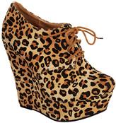 Camel Leopard Trendy Bootie