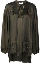 Faith Connexion lace hem blouse - women - Silk - S