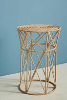 Anthropologie Angled Jute Side Table