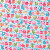 SheetWorld Fitted Pack N Play (Graco) Sheet - Owls Blue - Made In USA - 27 inches x 39 inches (68.6 cm x 99.1 cm)