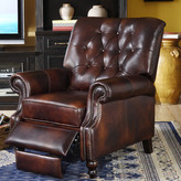 Lazzaro Leather Philip Tufted Back Top Grain Leather Recliner