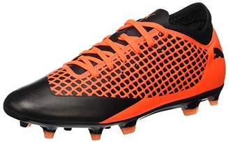 Puma Men's Future 2.4 FG/AG Footbal Shoes, Black-Shocking Orange