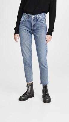 A Gold E Agolde Jamie High-Rise Classic Jeans