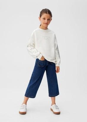 MANGO Metallic contrast sweatshirt