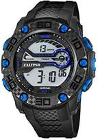 Calypso Unisex Digital Watch with LCD Dial Digital Display and Black Plastic Strap K5691/7