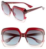 Christian Dior Gaia 58mm Square Sunglasses