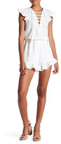 Endless Rose Front Lace-Up Woven Romper