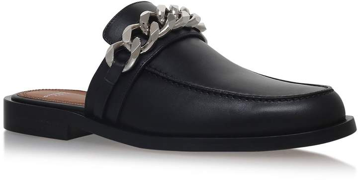 Givenchy Backless Chain Trim Loafers