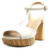 Nanette Lepore Venus Women Open Toe Leather White Platform Sandal.