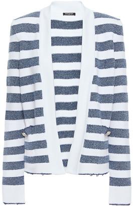 Balmain Metallic Striped Knitted Cardigan