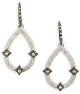 Armenta Women's New World Diamond Open Pear Drop Earrings
