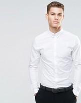 Asos Skinny Shirt With Tie Pin