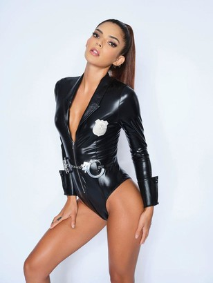 Ann Summers Dress Up Police Bodysuit - Black