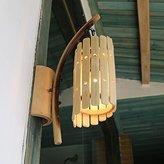 DengWu Wall Sconce Chinese Antique Bamboo Creative Aisle Terrace Restaurant Pastoral Art Wall Light, 250mm * 250mm * 490mm