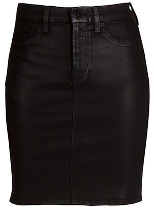 JEN7 by 7 For All Mankind Coated Pencil Skirt
