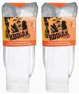 Kodiak Men's 6 Pairs of Soft Protective Toe Crew Work Socks, US Shoe Size 7-12