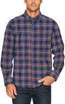 Nautica Men's Long Sleeve Twill Wrinkle Resistant Plaid Button Down Shirt