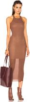 Rick Owens Rib Cotton Tank Dress