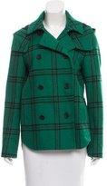 Tibi Plaid Double-Breasted Coat
