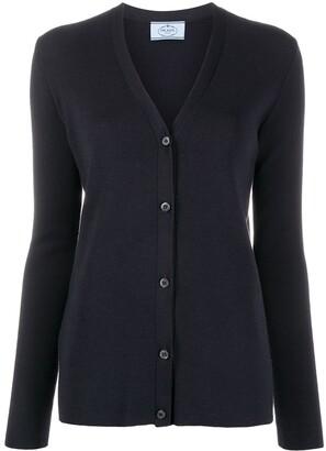 Prada Pre-Owned V-neck buttoned cardigan