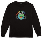 Balenciaga Kids - You Are The World-print Cotton T-shirt - Black Multi