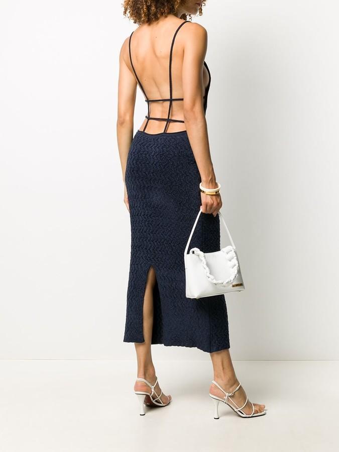 Thumbnail for your product : Jacquemus Velvet Spaghetti Straps Dress