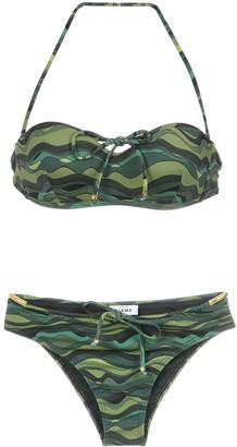 AMIR SLAMA Wave Print Bikini Set