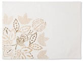 Threshold White with Gold Floral Placemat