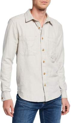 7 For All Mankind Men's Triple Needlework Pocket Work Shirt