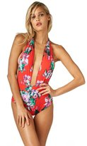 Montce Swim - Red Floral Private Beach One-Piece
