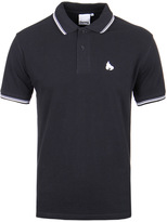Money Double Stripe Navy Short Sleeve Polo Shirt