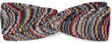 Missoni Twist-front Crochet-knit Headband - Blue