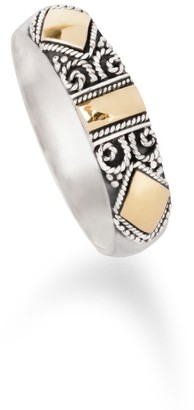 Aquila Jewellery Handmade Sterling Silver Ring With 18K Gold - Ella
