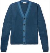 Etro Ribbed Wool Cardigan - Petrol
