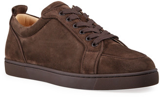 Christian Louboutin Men's Rantulow Orlato Velour Low-Top Sneakers