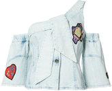 Peter Pilotto cold shoulder shirt - women - Cotton - 8