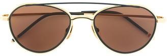 Thom Browne Eyewear Tinted Aviator Sunglasses