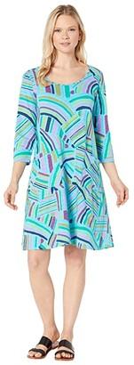Fresh Produce Sundrenched Dalia Dress (Bluefin) Women's Dress