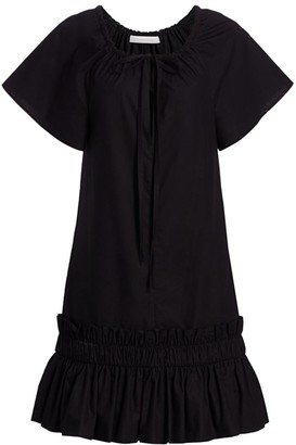 See by Chloe Tie-Neck Shift Dress