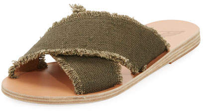 Ancient Greek Sandals Thais Crisscross Sandal, Khaki
