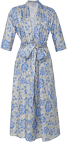 Luisa Beccaria M'O Exclusive Floral Print Cotton Shirt Dress