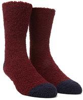 Forever 21 Fuzzy Contrast Crew Socks
